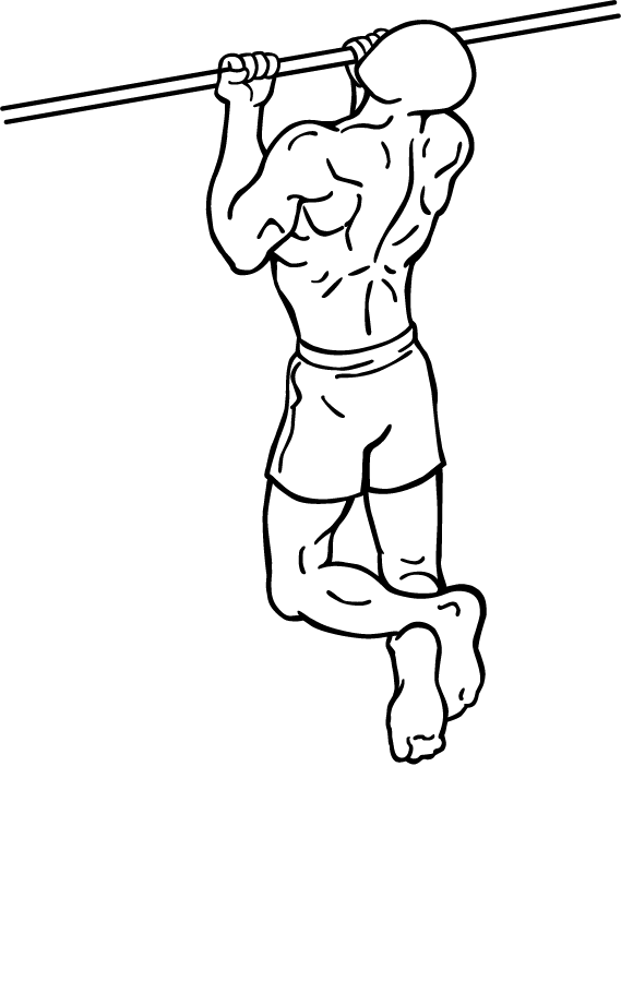 Allenare i bicipiti chin up alla sbarra